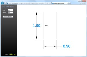 CadLib Silverlight door builder